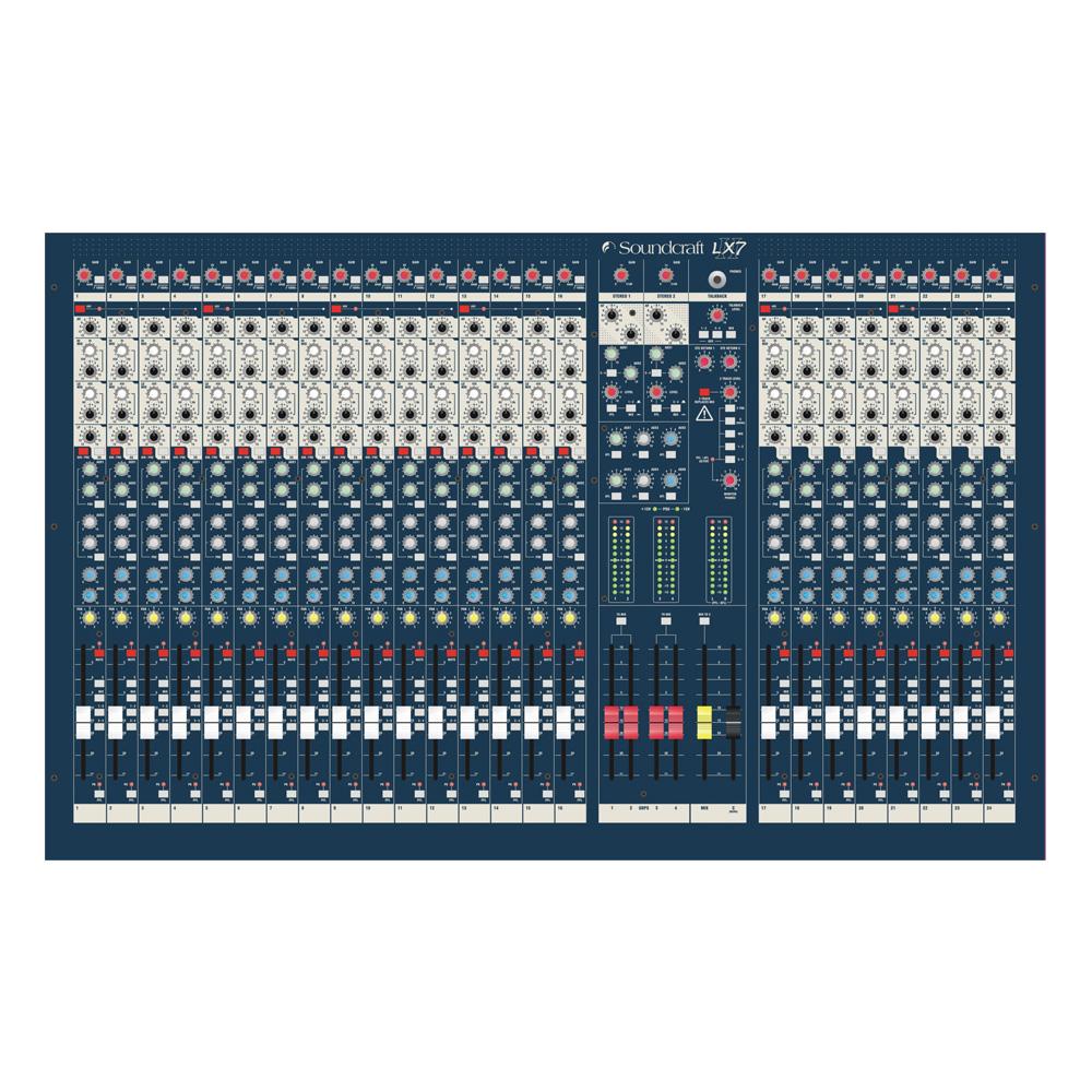 Live Mixer, 24 Mic/Line Inputs, 4 Groups, 6 Aux