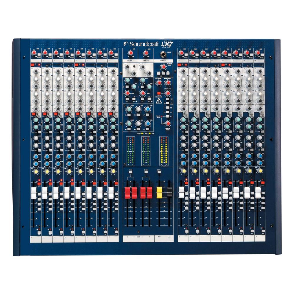 Live Mixer, 16 Mic/Line Inputs, 4 Groups, 6 Aux