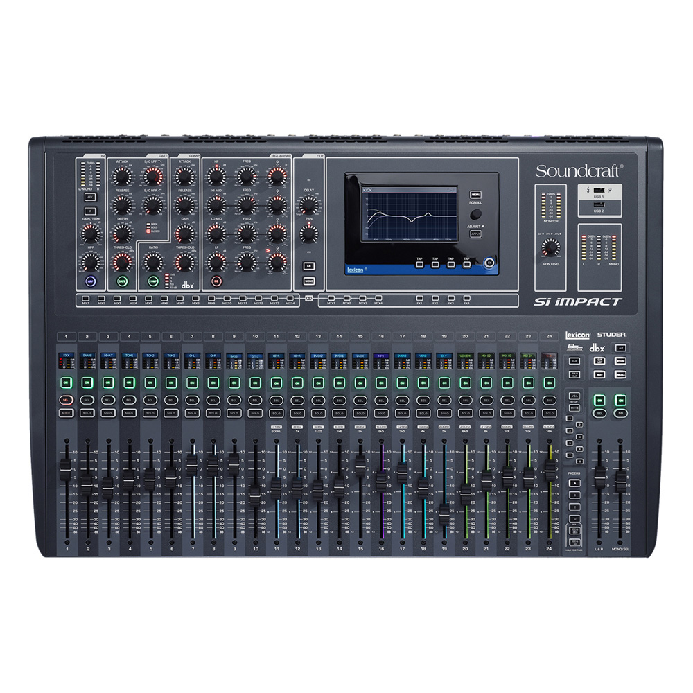 40-input Digital Mixing Console and 32-in/32-out USB Interface and iPad Control
