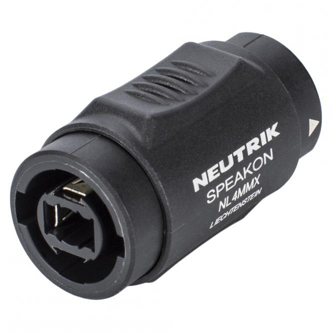 NEUTRIK Adapter | Speakon female 4-pole straight, black