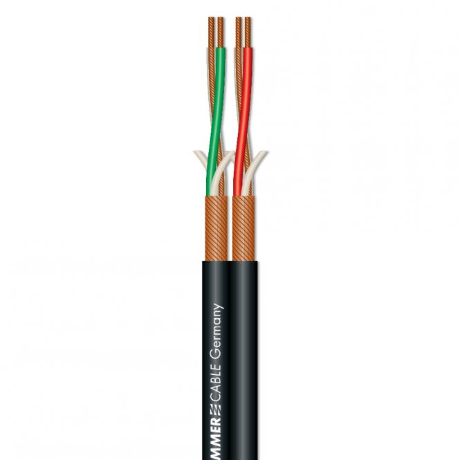 Patch & Microphone Cable SC-Peacock MKII; DMX: 2 x 0,22 mm²; S-PVC; 9,2 x 4,5 mm
