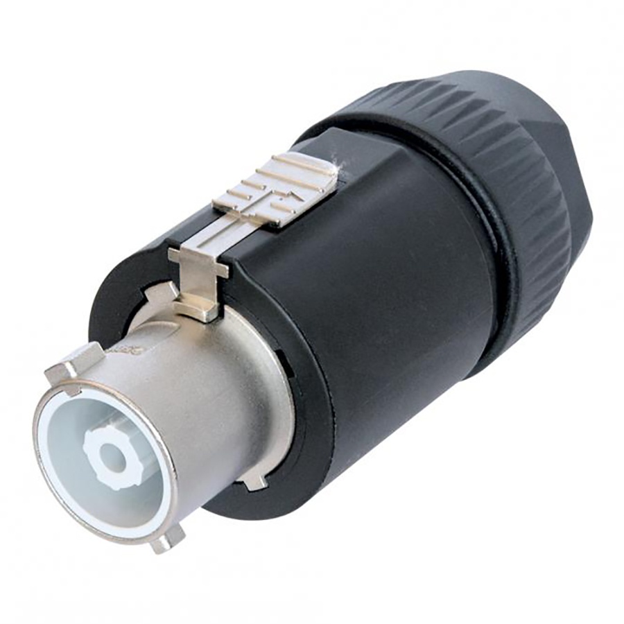NEUTRIK PowerCon, 3-pole , plastic-, screw-type-female connector, silver plated contact(s), straight, black