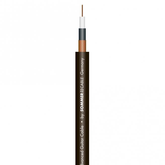 Sommer cable Instrument Cable SC-SPIRIT BLACK ZILK; 1 x 0,25 mm²; PVC Ø 7,20 mm