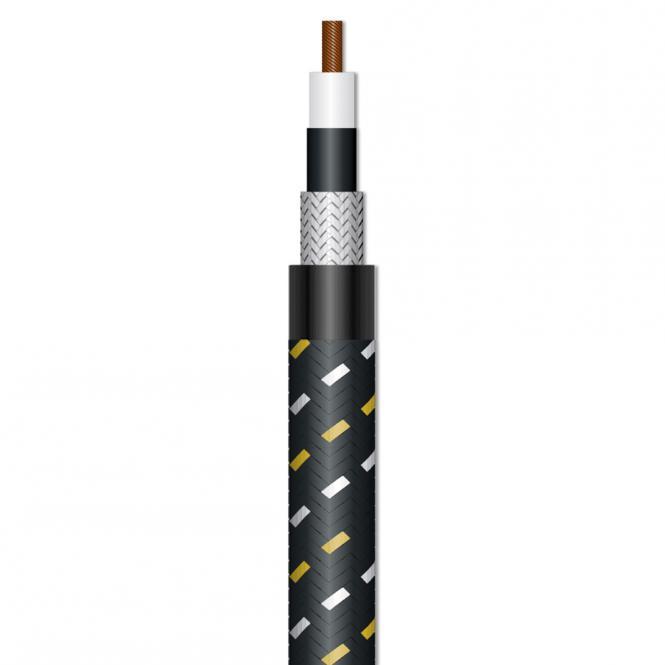Instrument Cable SC-Classique; 1 x 0,50 mm²; PVC + fabric Ø 6,50 mm