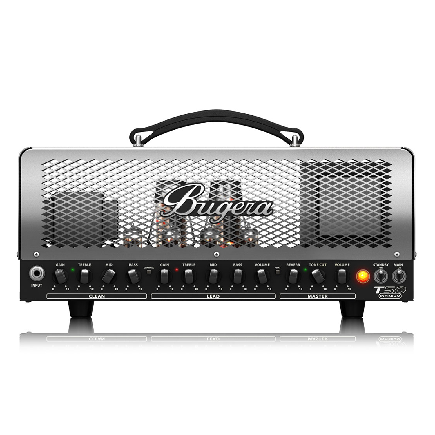 50-Watt Cage-Style 2-Channel Tube Amplifier Head with INFINIUM Tube Life Multiplier, Multi-Class A/AB Operation and Reverb