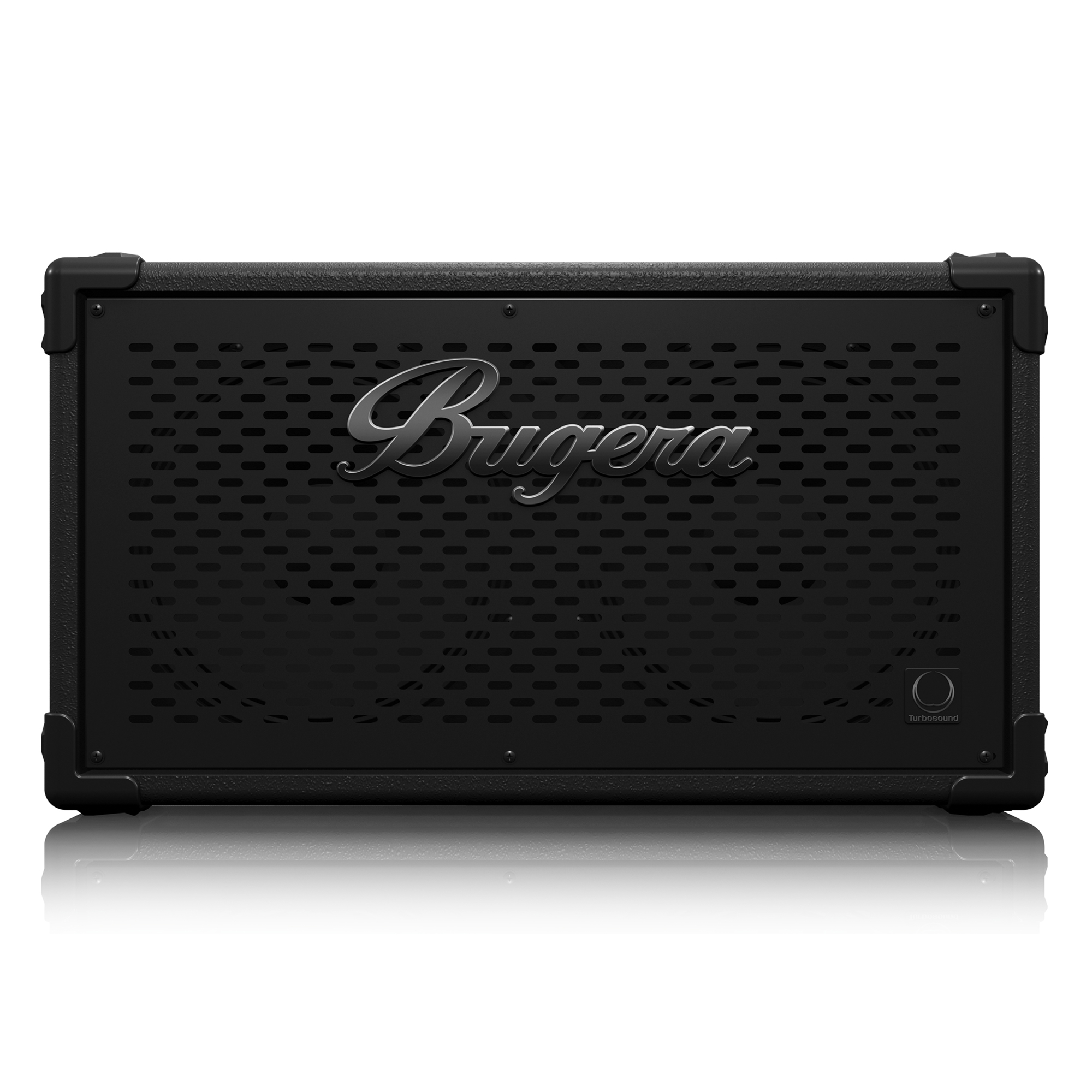 Ultra-Compact and Lightweight 1,600-Watt Bass Cabinet with Original 2 x 10´´ TURBOSOUND Speakers and Adjustable HF Driver