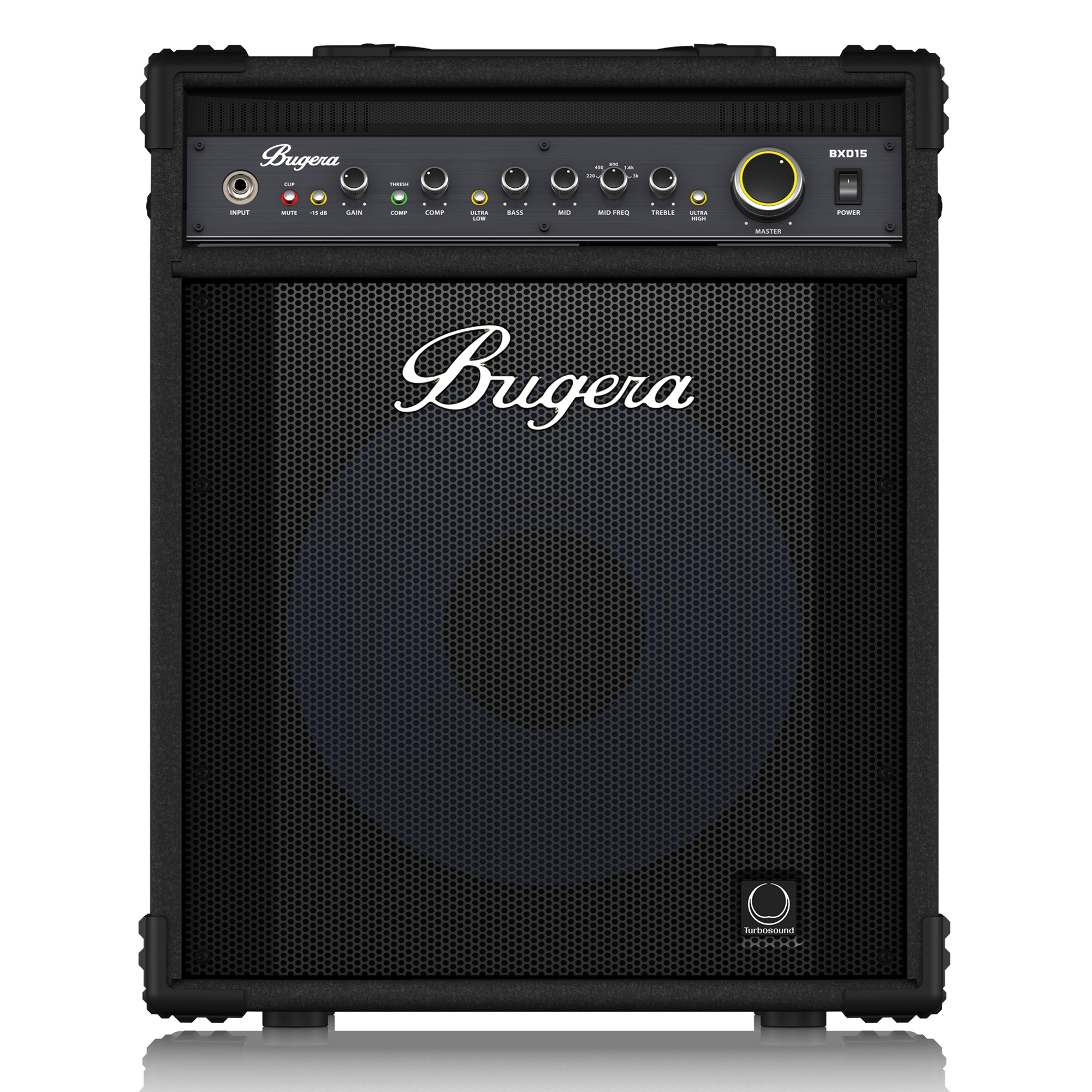 "1000-Watt Bass Amplifier with Original 15"" TURBOSOUND Aluminum-Cone Speaker, MOSFET Preamp, Compressor and DYNAMIZER Technology"