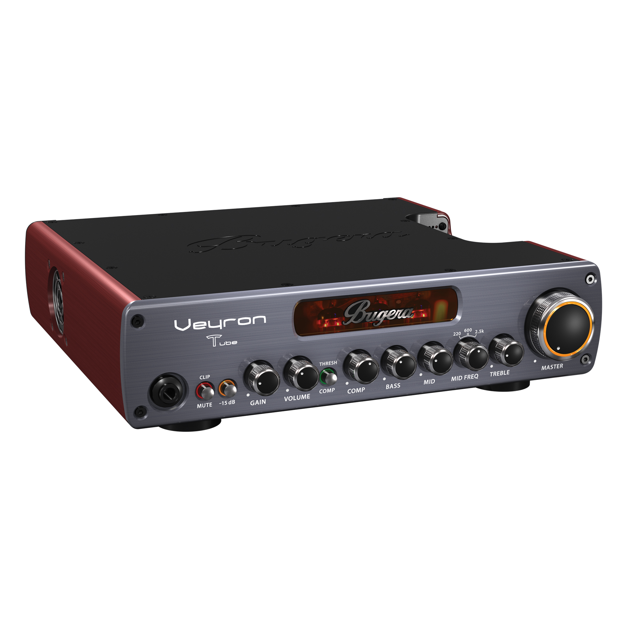 Ultra-Compact 2,000-Watt Class-D Bass Amplifier with Tube Preamp, Optical Compressor and DYNAMIZER Technology