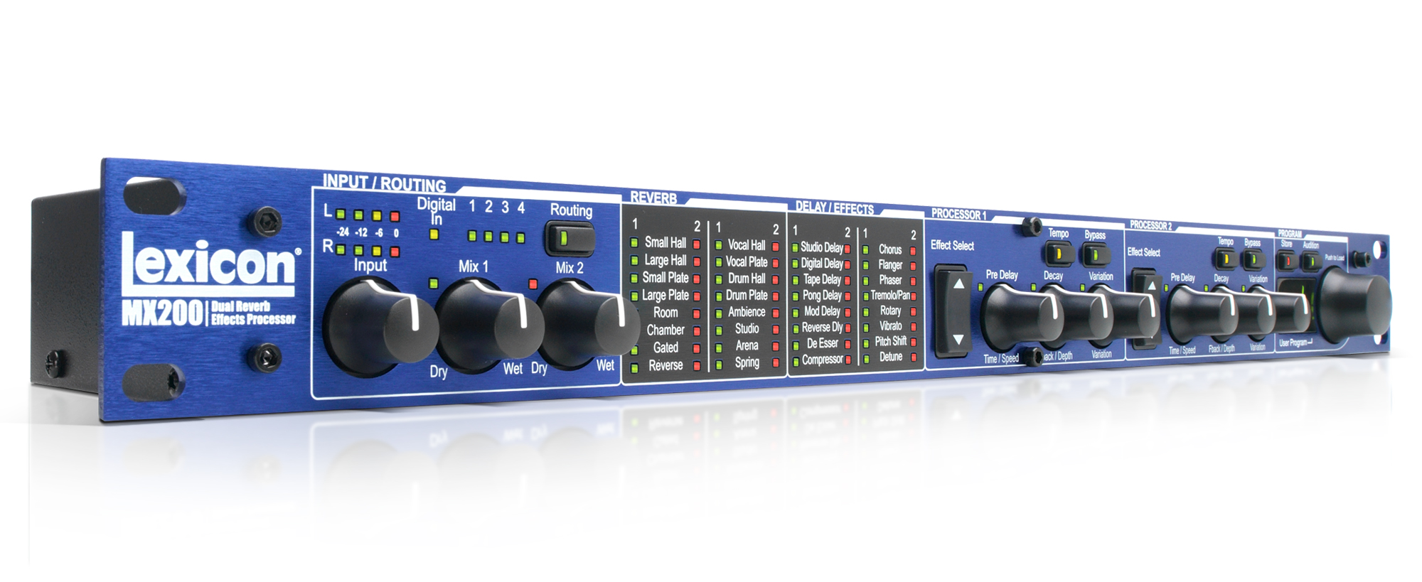 "Stereo Reverb/Effects Processor with USB ""Hardware Plug-In"" Capability"
