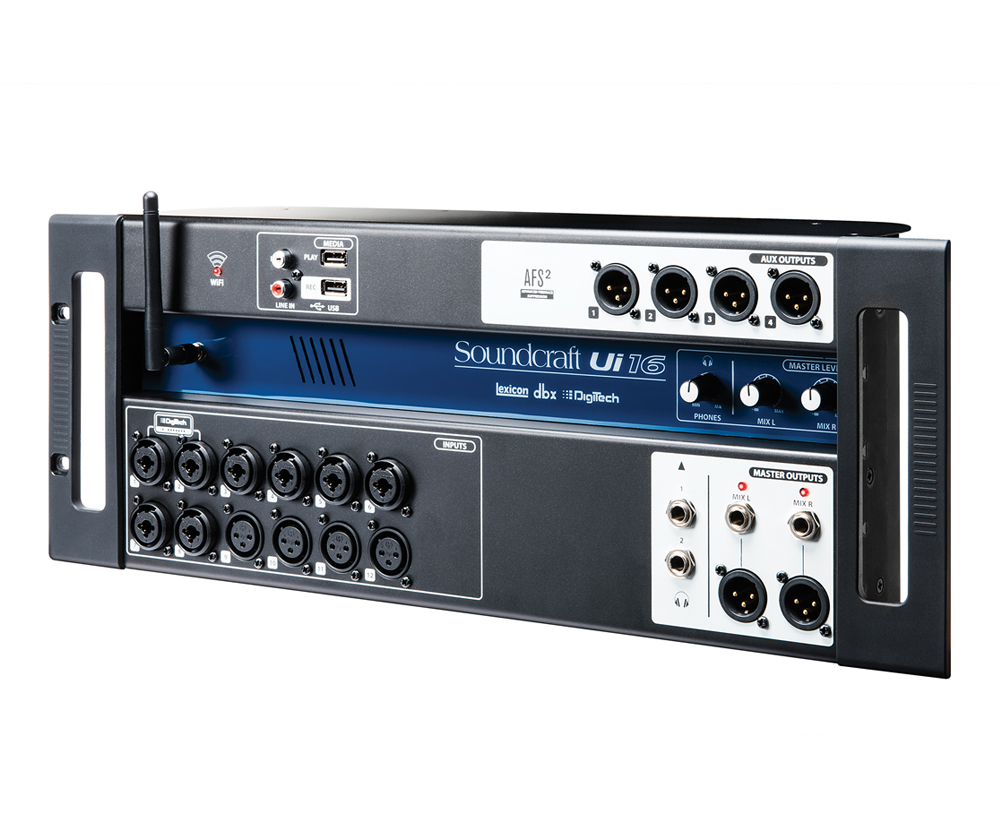 16-input Remote-Controlled Digital Mixer