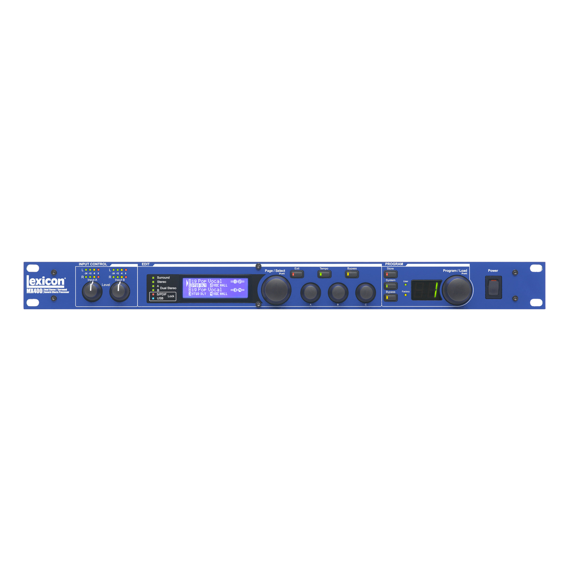 "4-in/4-out Reverb/Effects Processor with USB ""Hardware Plug-In"" Capability"
