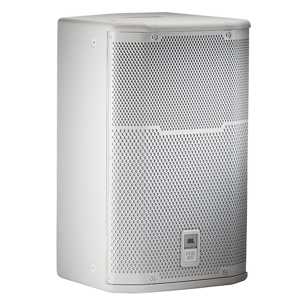 "12"" Two-Way White Utilitly/Stage Monitor Loudspeaker System"
