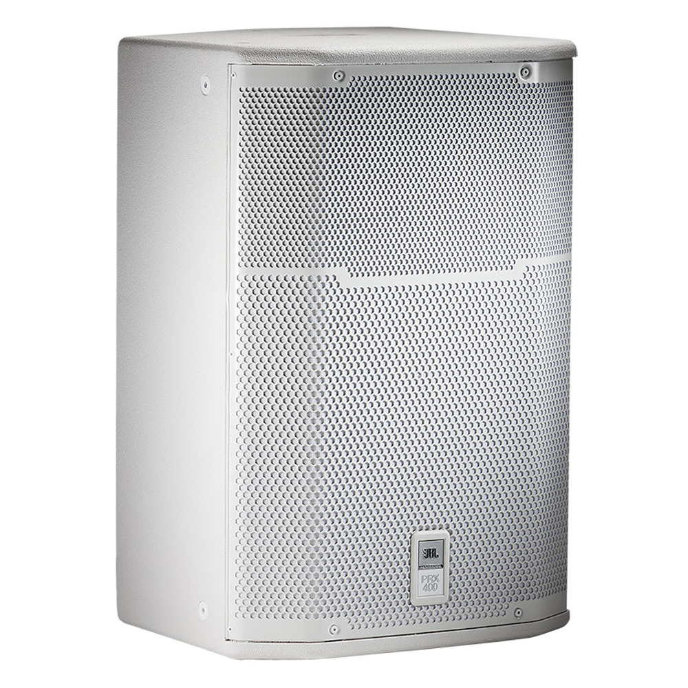 "15"" Two-Way White Utility/Stage Monitor Loudspeaker System"